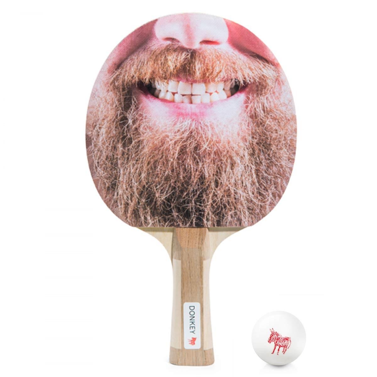 Bearded ping pong bat